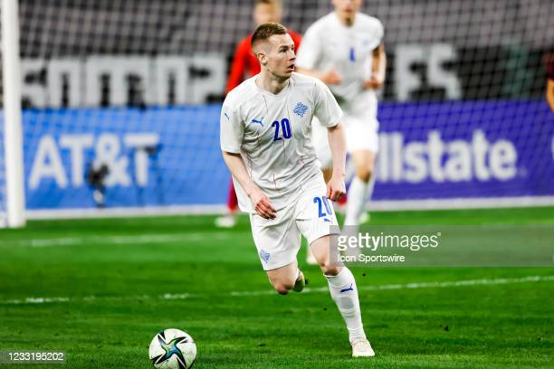 Iceland Gisli Eyjolfsson in action during the game between Mexico and Iceland on May 29, 2021 at AT&T Stadium in Arlington, Texas.