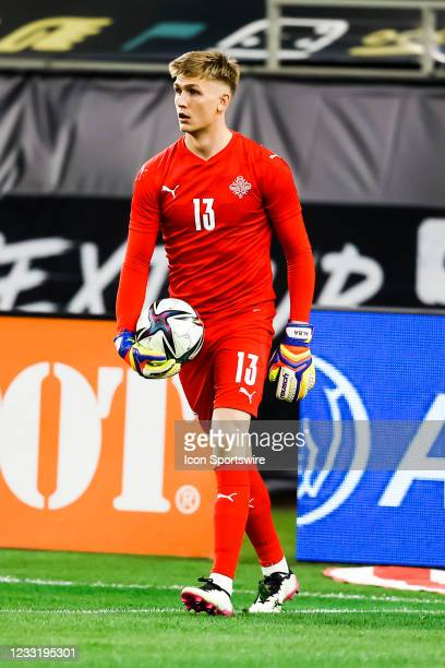 Iceland goalkeeper Runar Alex Runarsson in action during the game between Mexico and Iceland on May 29, 2021 at AT&T Stadium in Arlington, Texas.