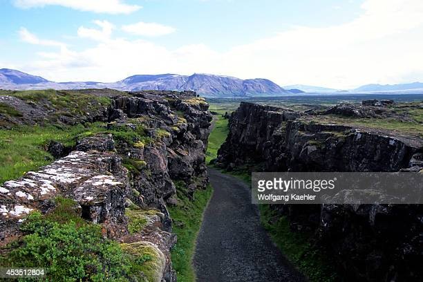 Iceland Golden Circle Thingvellir Volcanic Fissure