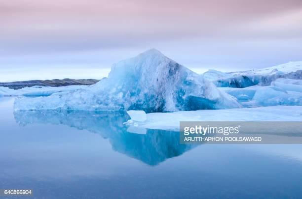 Iceland , Jokulsarlon glacier lagoon.