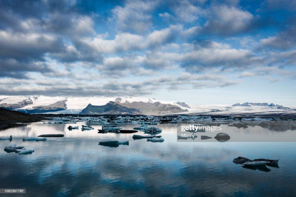 Iceland Jokulsarlon Icebergs Sunrise : Stock Photo