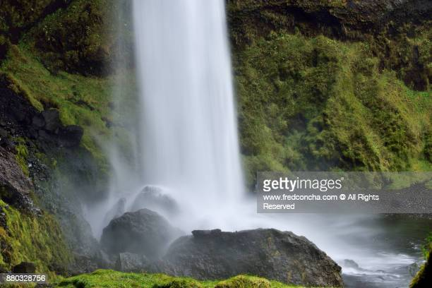 Iceland Kvernufoss waterfall