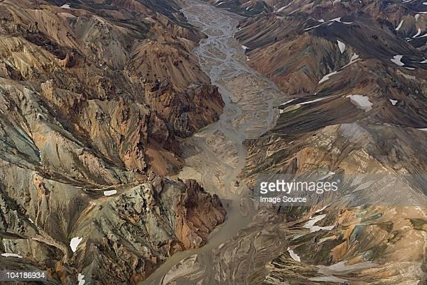 landmannalaugar, island, hekla vulkan - geologie stock-fotos und bilder