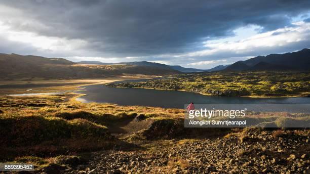 Iceland landscape on the way from Reykjavík to Kirkjufell