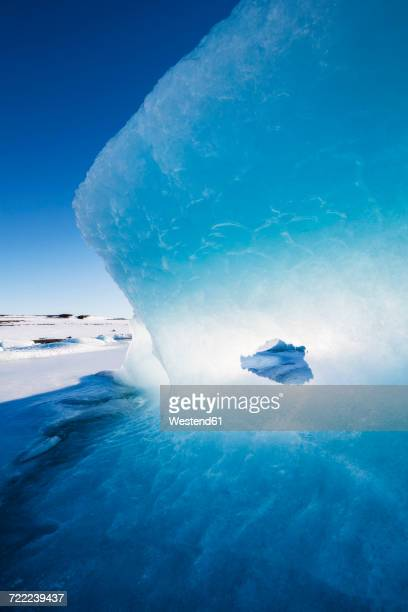 iceland, light and blue in a glacier - drift ice stock pictures, royalty-free photos & images