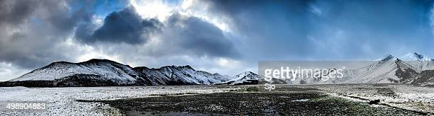 Iceland mountain panorama