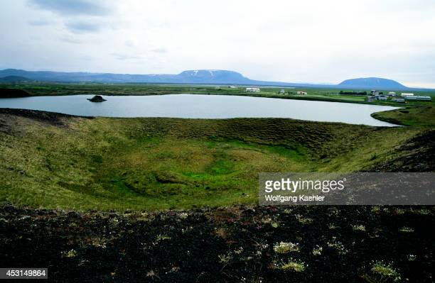 Iceland Myvatn Lake Pseudo Craters And Farm