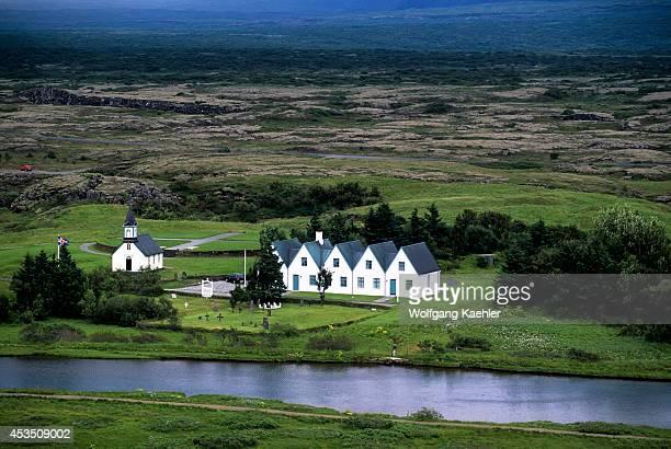 Iceland Near Reykjavik Thingvellir Historic Site Of First Parliament Meeting