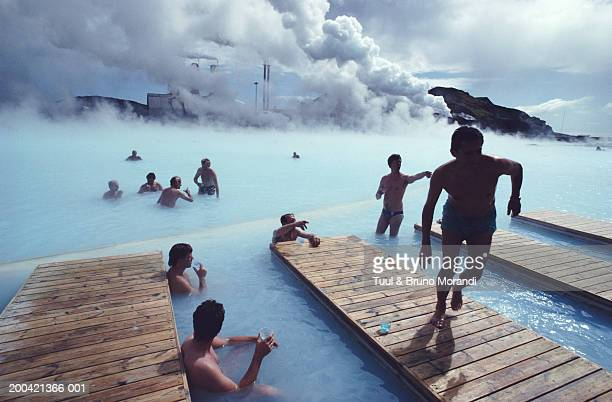 Iceland, people in the Blue Lagoon