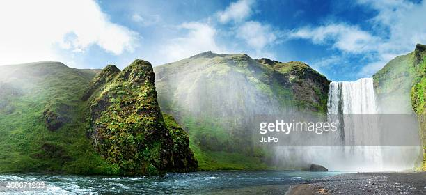 iceland - waterfall stock photos and pictures