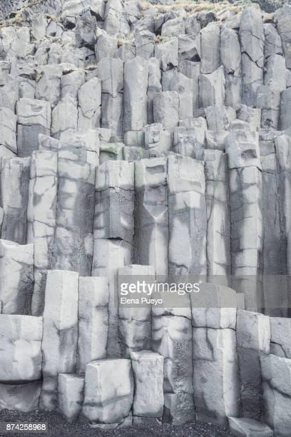 Iceland, Reynisfjara, basalt columns