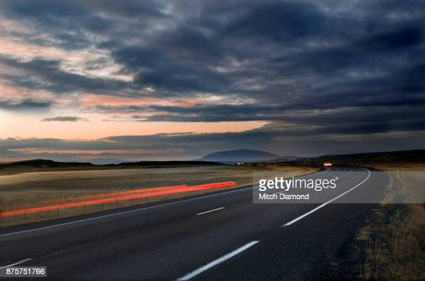 Iceland Ring Road at Night