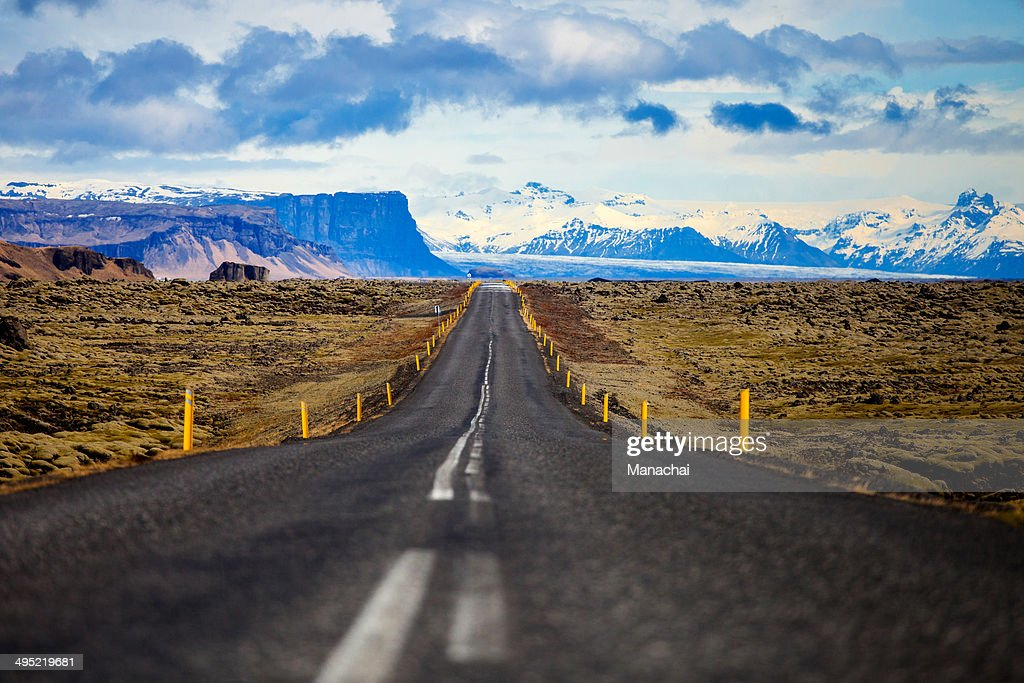 Iceland S Ring Road Wallpapers: Iceland Ring Road With The Mountain Background Stock Photo