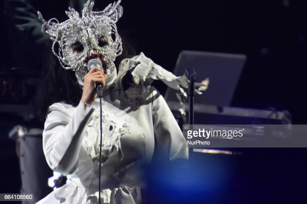 Iceland singer Björk performs on stage as part of Ceremonia Music Festival at Pegasus Dynamic Center on April 02 2017 in Toluca Mexico