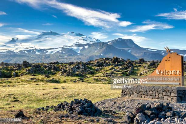 iceland. snaefellsjokull national park - marco brivio stock pictures, royalty-free photos & images