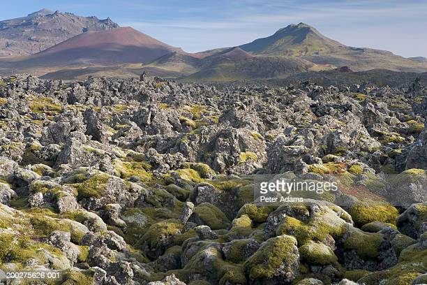 iceland, snaefellsnes peninsula, volcanic rock terrain - peter adams stock pictures, royalty-free photos & images