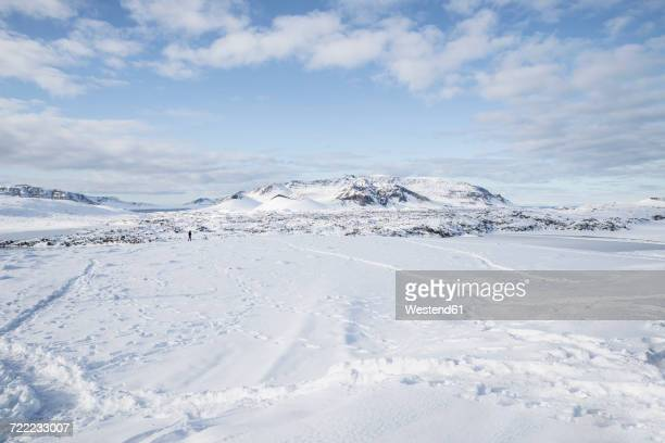 Iceland, snow-covered landscape