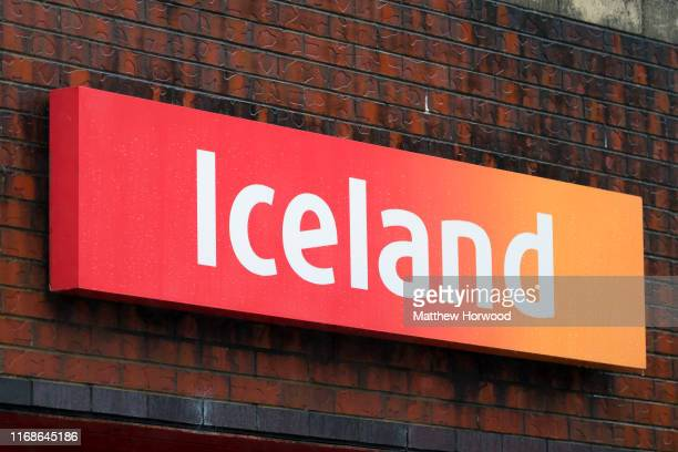 Iceland store sign on August 16 2019 in Ebbw Vale United Kingdom