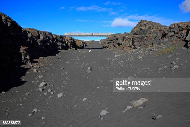 Iceland, Sudurnes, The bridge between the european and the american continental plate