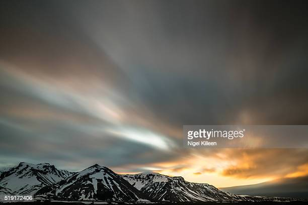 iceland sunrise - austurland stock pictures, royalty-free photos & images
