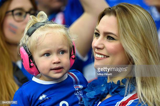 Iceland supporters are seen prior to the UEFA EURO 2016 quarter final match between France and Iceland at Stade de France on July 3 2016 in Paris...