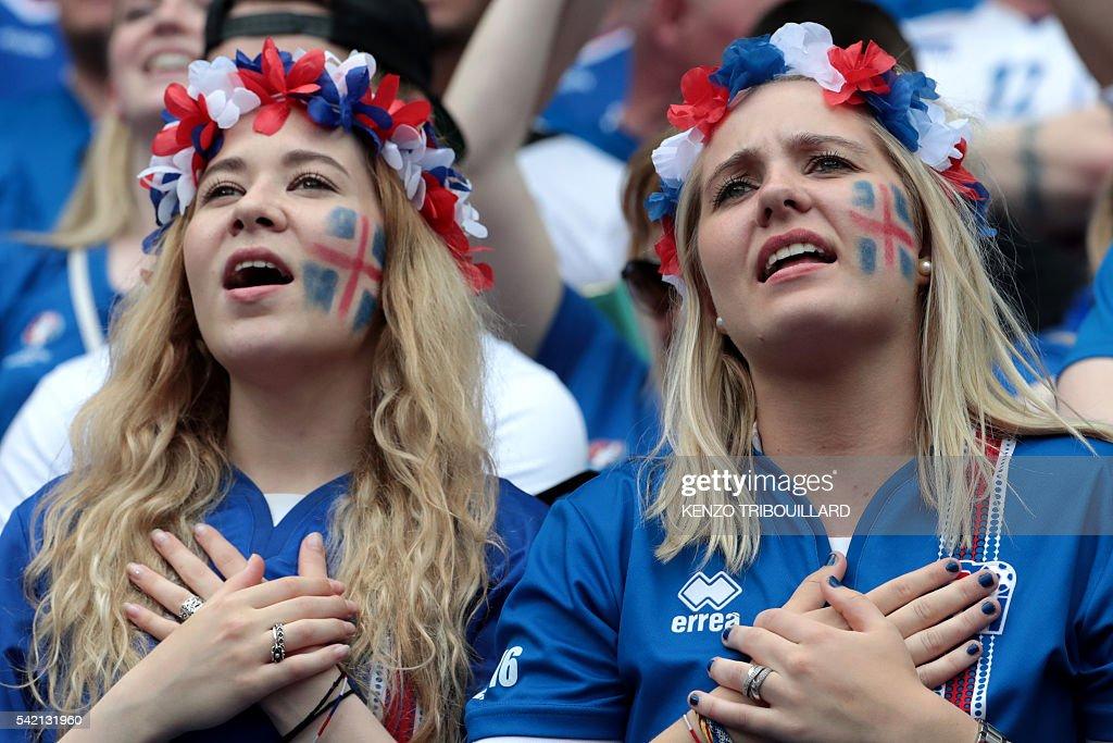 FBL-EURO-2016-MATCH33-ISL-AUT-FANS : News Photo