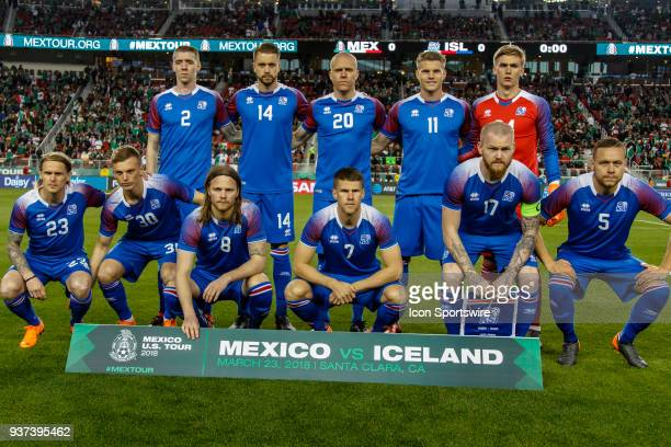 Iceland team picture before the international match between Mexico and Iceland on Friday March 23 2018 at Levi's Stadium in Santa Clara CA Final...