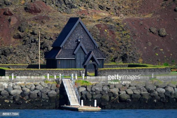 Iceland, Vestment islands. Heimaey. Stabkirche