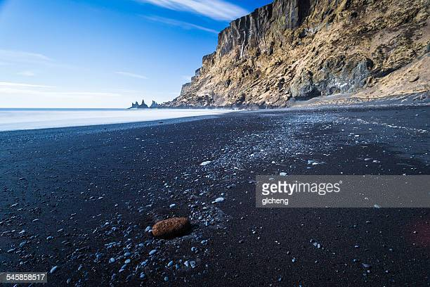 Iceland, Vik, Reynisdrangar, Black sand beach