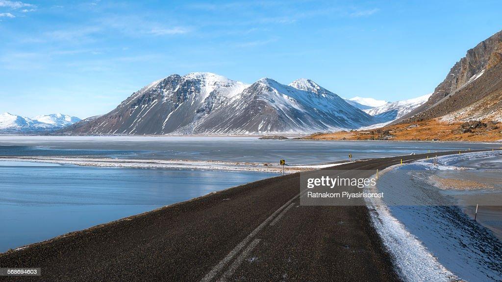 Iceland Winter Road : Stock Photo