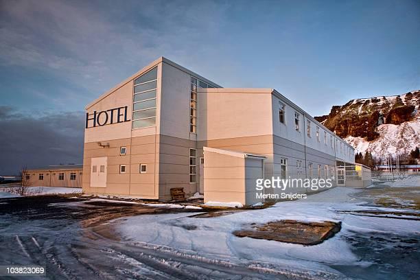 icelandair hotel kirkjub jarklauster. - merten snijders stockfoto's en -beelden