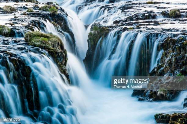 iceland-bruarfoss - brook mitchell stock pictures, royalty-free photos & images