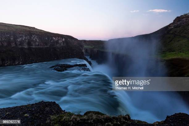 iceland-gullfoss - brook mitchell stock pictures, royalty-free photos & images