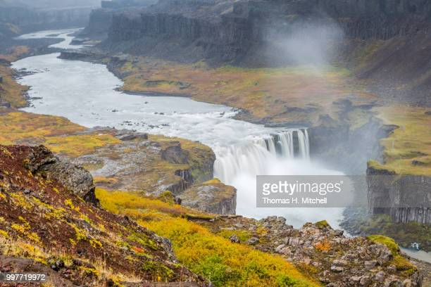 iceland-hafragilsfoss - brook mitchell stock pictures, royalty-free photos & images