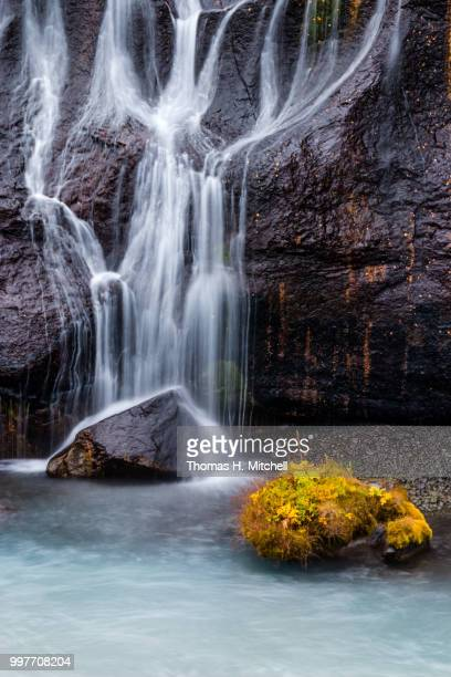 iceland-hraunfossar - brook mitchell stock pictures, royalty-free photos & images