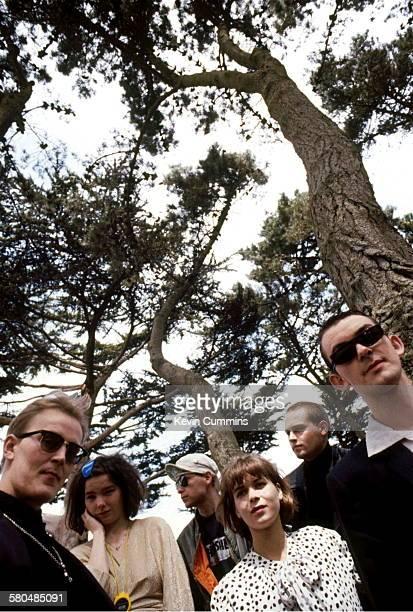 Icelandic alternative rock group The Sugarcubes San Francisco 17th August 1988 Left to right drummer Sigtryggur Baldursson singer Bjork bassist Bragi...