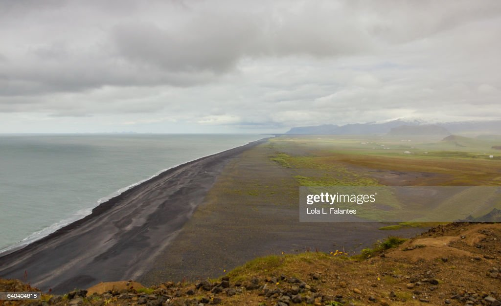 Icelandic black sand beach : Foto de stock
