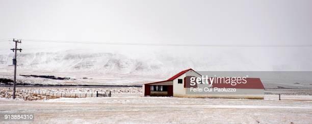 Icelandic farmhouse near Borgarnes, West Iceland