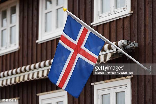 Icelandic Flag On A House
