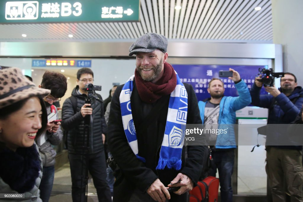 Eidur Gudjohnsen Arrives In Shijiazhuang