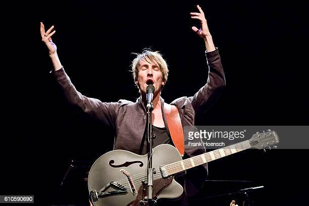 Icelandic singer Helgi Jonsson performs live during a concert at the Admiralspalast Studio on September 26 2016 in Berlin Germany