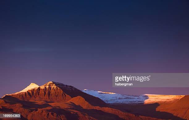 Icelandic Snowcapped Mountain Range