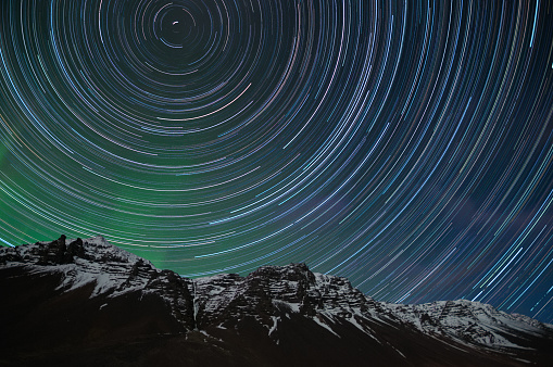 Icelandic Star Trails - gettyimageskorea