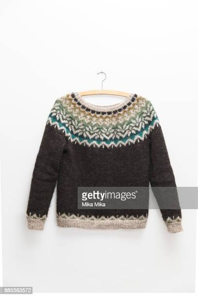 icelandic sweater - sweater stock pictures, royalty-free photos & images
