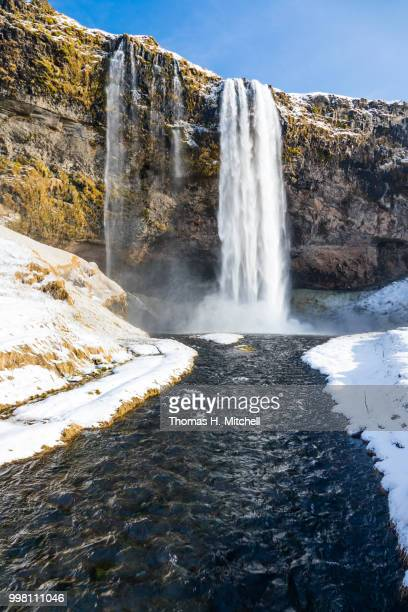 iceland-seljalandsfoss - brook mitchell stock pictures, royalty-free photos & images