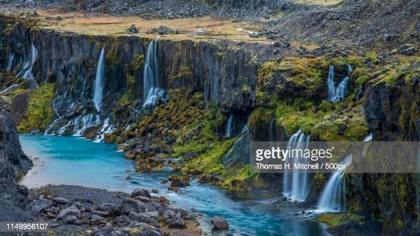 iceland-sigöldugljúfur canyon - brook mitchell stock pictures, royalty-free photos & images