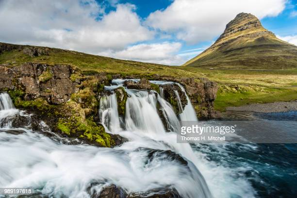 iceland-snaefellsnes peninsula-kirkjufellfoss - brook mitchell stock pictures, royalty-free photos & images