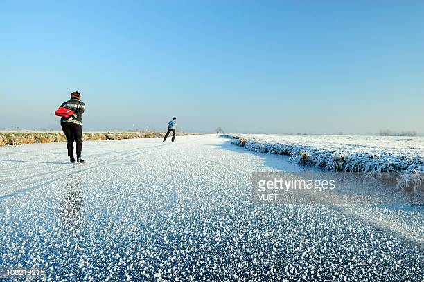 Ice-skating in the Netherlands