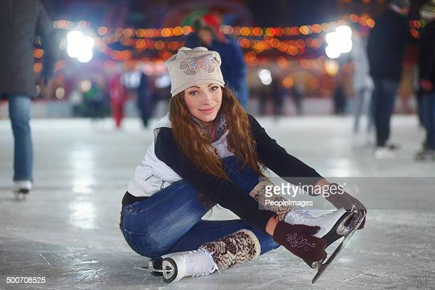 Ice-skating is quite a workout, but at least it's fun!