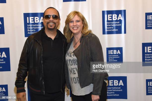 IceT and Beverly Keel pose backstage prior to the Keynote QA IceT panel during IEBA 2017 Conference on October 15 2017 in Nashville Tennessee